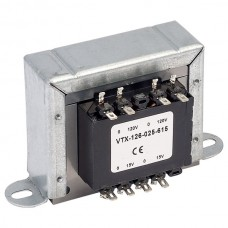 TR1 Uncased Mains Transformer, 2 x 15V ac, 1.5 Amps