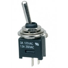 S1 Sub-Miniature Single Pole On/Off Toggle Switch