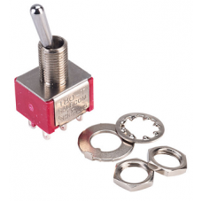S3 Miniature Toggle Switch, Double Pole Changeover